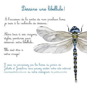 Atelier de dessin sur la libellule